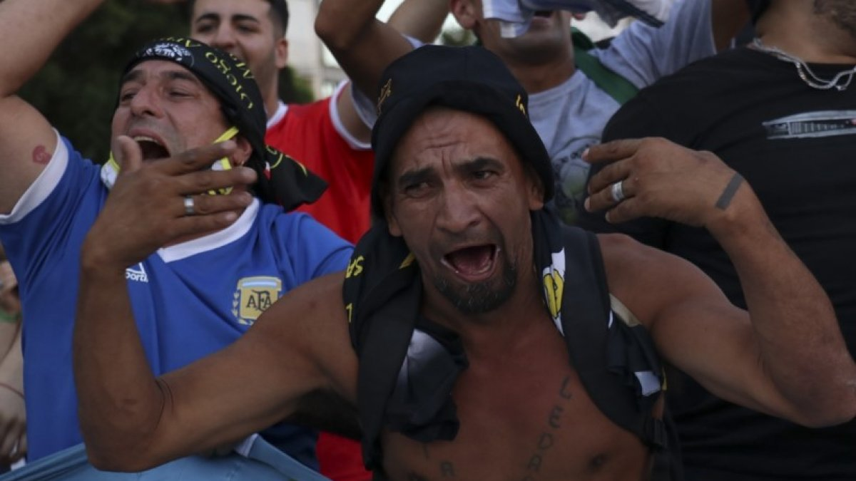 Arjantin'de Maradona'nın öldürüldüğü iddiasıyla gösteri düzenlendi