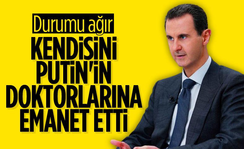Esad, korona tedavisi için Rusya'ya gitti