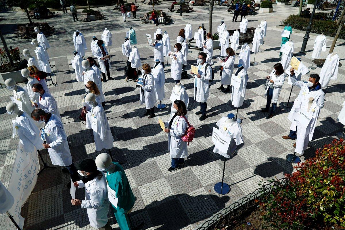 Madrid de doktorlar süresiz greve başladı #1