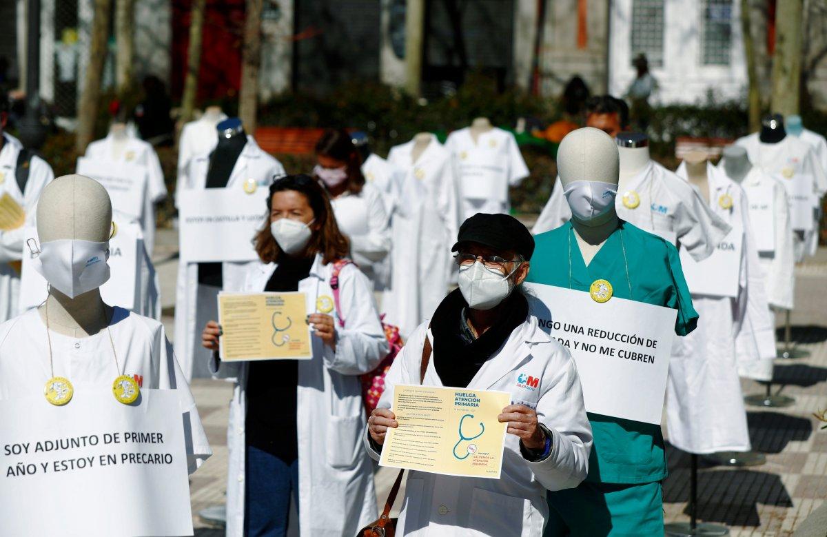 Madrid de doktorlar süresiz greve başladı #2